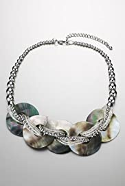 Bauble Bead Abalone Rings Necklace [T06-6342c-S]