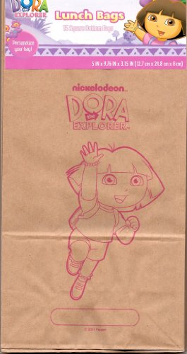 Brown Lunch Bags - Dora The Explorer - 1