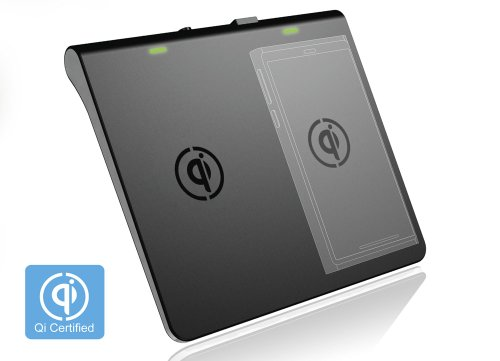 Tenergy Dual Channel Qi Wireless Charger, Black