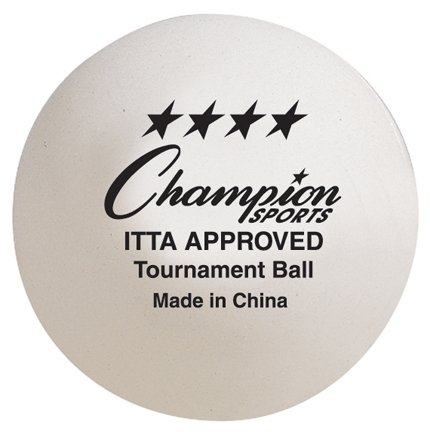 Champion Sports 4STAR Tournament Table Tennis Ball, 40mm, White (4 Star Ping Pong Balls Champion compare prices)