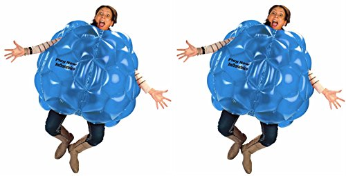 "(2-Pack) Wearable Inflatable Bumper Balls 36"" - Bubble Soccer Suits- Set of Two (2) Balls - For Kids or Small Adults - Blow Up Toy in 5 Min. Boy Girl Outdoor Game"