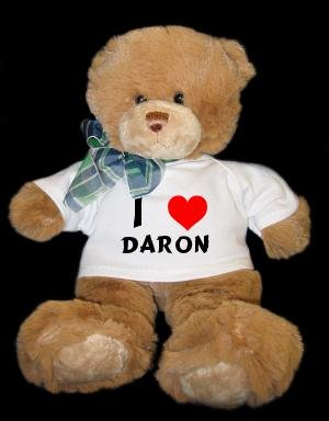 Plush Brown Teddy Bear (Dean)  I Love Daron T-shirt