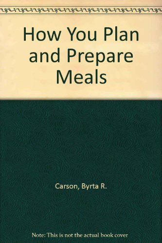 How You Plan and Prepare Meals PDF