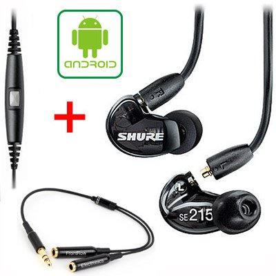 Shure Se215-Bk & Music Phone Adapter Cable For Blackberry And Most Android Phones