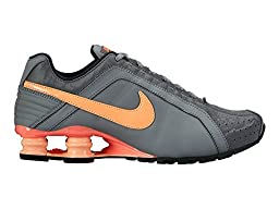 Nike Women\'s Shox Junior Athletic Sneaker Shoes-Cool Grey/Sunset Glow-7.5