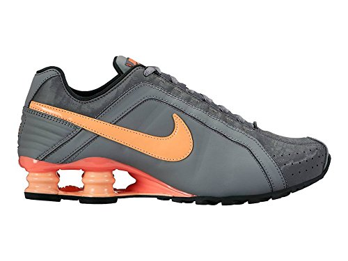 Nike Women's Shox Junior Athletic Sneaker Shoes-Cool Grey/Sunset Glow-6 (Classic Nike Shox compare prices)