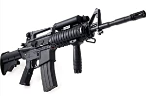 1:1 Full Scale 2011 RED DOT VERSION, M16 Airsoft Rifle FULL AUTO, With FREE LASER 350-FPS Airsoft Gun