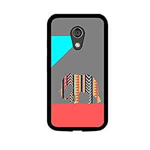 Vibhar printed case back cover for Motorola Moto G (2nd Gen) PatternElephantGrey