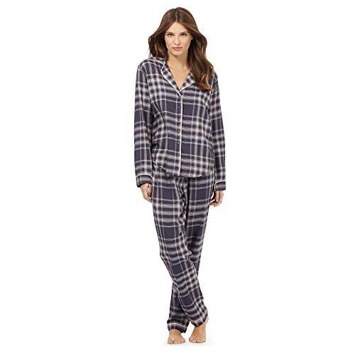 j-by-jasper-conran-womens-dark-grey-and-pink-checked-print-pyjama-set-10