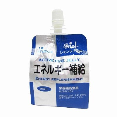 アクティブ ファイン ゼリー エネルギー補給 レモンライム味 180g