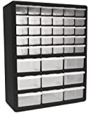 HOMAK HA01039001 39-Drawer Plastic Parts Organizer