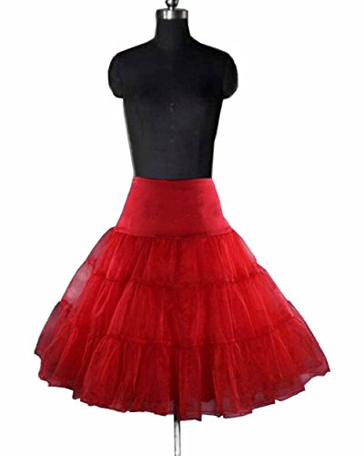 Miranda Red Swing Vintage Rockabilly Tutu Fancy Petticoat