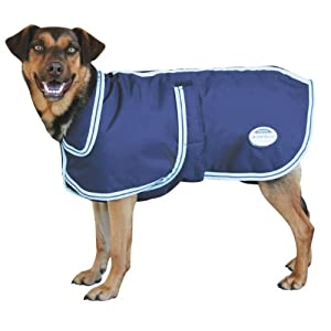 Weatherbeeta Landa Deluxe Dog Blanket - Size:16 Color:Navy/Silver