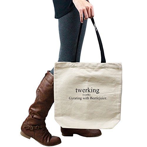 Decal Serpent Funny Twerking Definition Miley Cyrus Dance Tote Handbag Shoulder Bag Purse