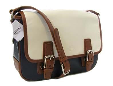 Coach Park Leather Flap Crossbody Bag Navy Multi 23383