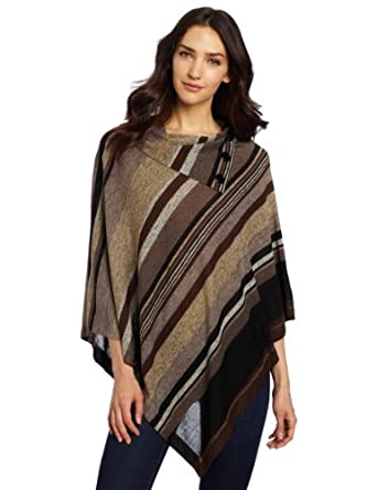 Annalee + Hope Women's Perfect Poncho, Brown/Multi, Medium
