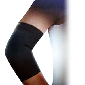 Black Elastic Knitting Breathable Elbow Sleeve Support