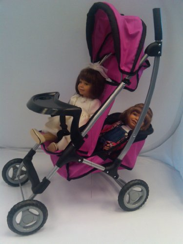 Mommy & Me London Double Decker Twin Doll Stroller with Free Carriage Bag! Amazon.com