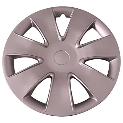 Set of 4 Silver 16 Inch Aftermarket Replacement Hubcaps with Clip Retention System - Part Number: IWC449/16S