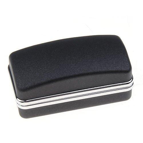Sonline bouton de manchette de luxe noire en faux manchette boite cadeau lien cuboide