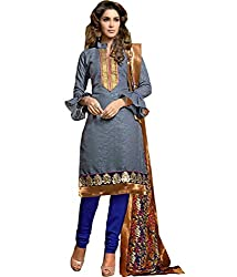 Lamiya Women's Unstitched Salwar Suit (FR7010_Multicolor_Free Size)