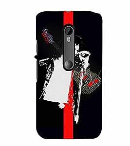 PrintVisa Music Michael 3D Hard Polycarbonate Designer Back Case Cover for Motorola Moto G3