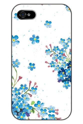 Sprawl New Unique Creative Design Apple Iphone 5 5S Snap On Protective Hard Case Cover Shell--Vintage Girly Blue Little Flowers Pattern