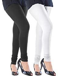 Slassy Women's Cotton Stretch Leggings Pack Of 2