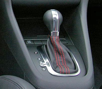 Dsg Shift Knob And Boot With Red Stitching For Jetta, Golf, Gti