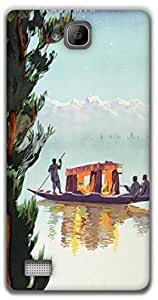 The Racoon Lean Kashmir hard plastic printed back case / cover for Huawei Honor 3C