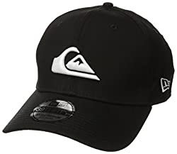Quiksilver Men's Mountain and Wave Black New Era Hat, White, Small/Medium