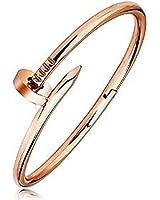 findout Damen 14K Roségold vergoldet Titan Stahl Nägel Armbänder, für Frauen, Mädchen, (F1391)