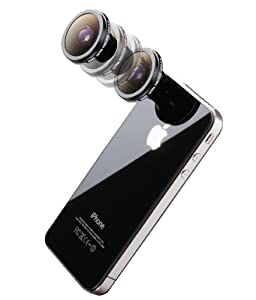 Digital King 180 Degree Fish-Eye Conversion Lens with Magnet Mount for iPhone 5, 4, and 4S