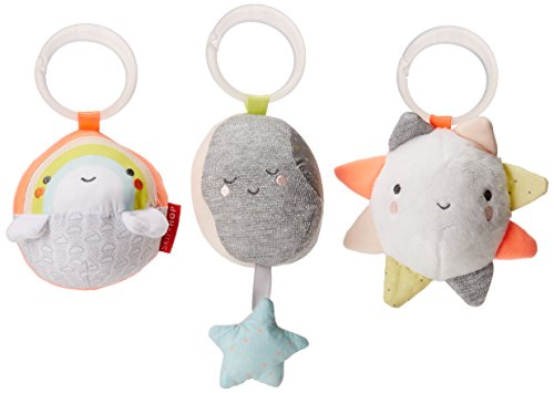 Skip Hop Baby Silver Lining Cloud Ball Trio for Early Development, Multi, Clouds