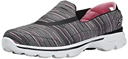 Skechers Performance Women\'s Go Walk 3 Resistance Walking Shoe, Black/Pink, 9.5 M US
