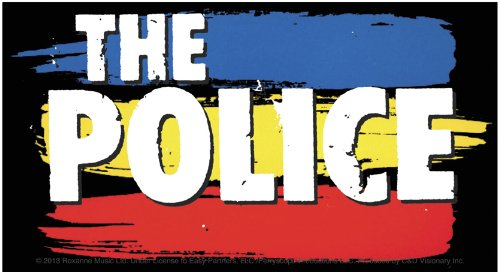 Licenses Products The Police Striped Logo Sticker