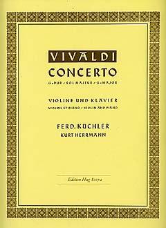 CONCERTO G-DUR OP 3/3 RV 310 PV 96 F 173 T 408 - arrangiate per violino e pianoforte [semibrevi/sheet music] compositore: VIVALDI ANTONIO