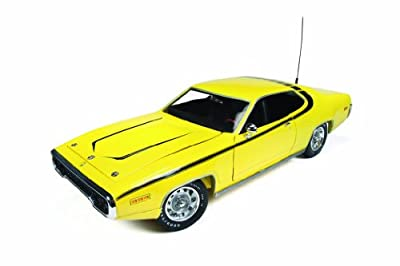 "1971 Plymouth Satellite Yellow ""Dukes Of Hazzard"" 1/18 by Autoworld AWSS105"