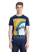 Putney Bridge Camiseta Manga Corta Boat Race (Azul Marino)