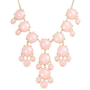 Bubble Necklace,Statement Necklace, Bubble Jewelry(Fn0508-Pink)