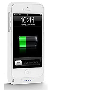 RedSnow ® 2200mAh Iphone Battery Power Pack Case Power Supply For iPhone 5 5S 5G (White)