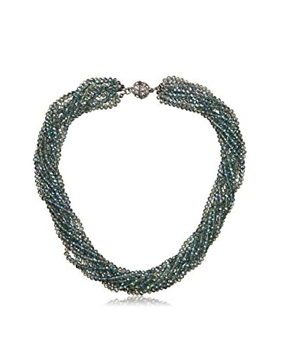 Saachi Green Beaded Multi Strand Short Necklace