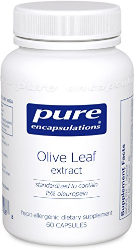 Pure Encapsulations - Olive Leaf extract - Hypoallergenic Supplement Supports Immune System and Healthy Intestinal Environment* - 60 Capsules (Pure Olive Leaf Extract compare prices)