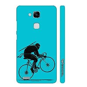Huawei Ascend Mate 7 Ninja Rides Blue designer mobile hard shell case by Enthopia