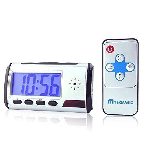 TEKMAGIC® 1280x720 HD Cámara Espia Despertador Activado Por Movimiento de la Videocámara de Seguridad Pequeño Vídeo Grabadora DVR