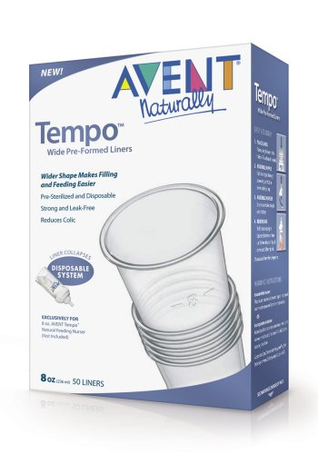 Philips AVENT Tempo Liners, 8 Ounce, 50-Count (Discontinued by Manufacturer)