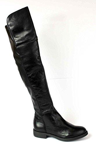 DIVINE FOLLIE stivale donna nero pelle alto sopra ginocchio 38