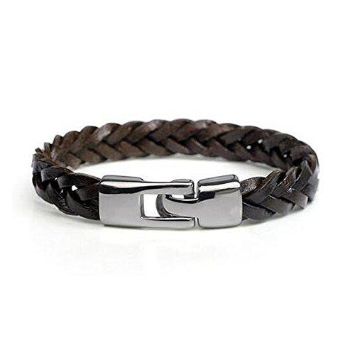 Fariishta Jewelry Handmade Fashion Minimalist Style Leather Wrap Bracelet£¨brown£© (Jelly Bracelts)