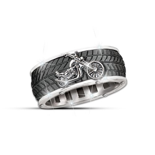 Motorcycle Men's Ring: Ride Forever by The Bradford Exchange: 13