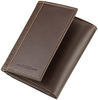 Guess Men's Credit Card Trifold, Brown, One Size